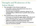 strengths and weaknesses of the solow model