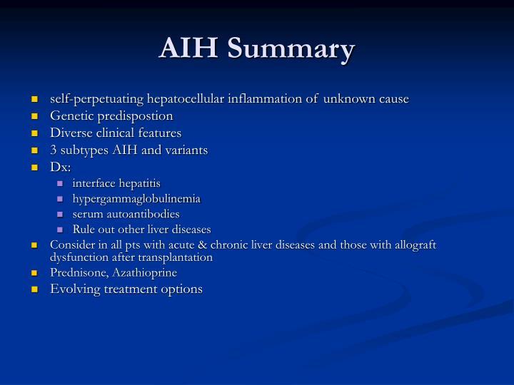 AIH Summary