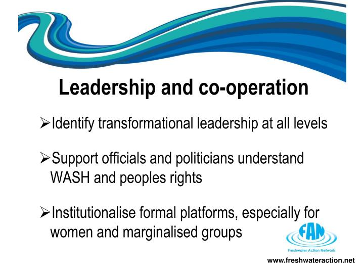 Leadership and co-operation