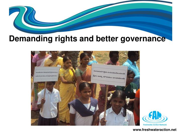 Demanding rights and better governance