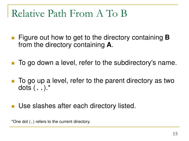 Relative Path From A To B