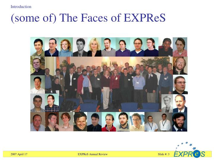 Some of the faces of expres