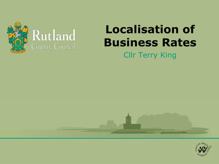 localisation of business rates n.