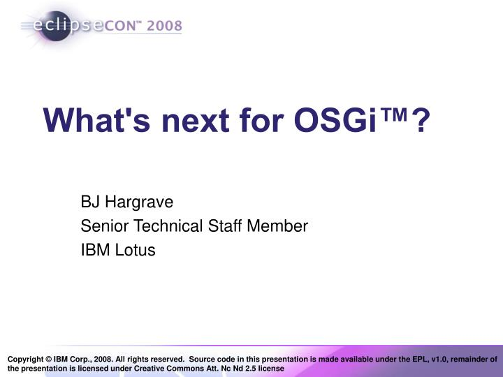 what s next for osgi