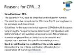 reasons for cpr 2