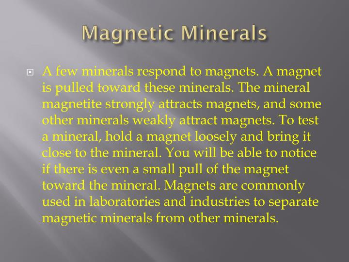 Magnetic Minerals