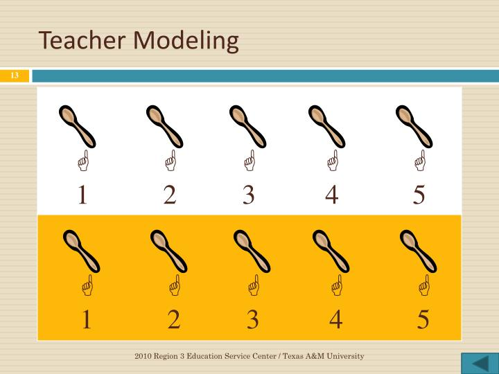 Teacher Modeling