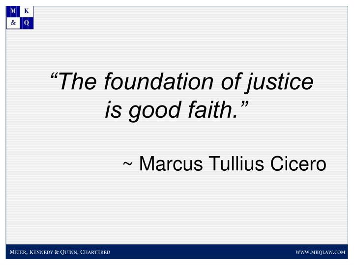 """""""The foundation of justice"""