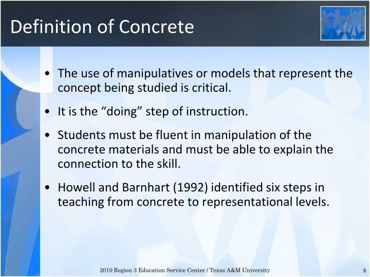 Definition of Concrete