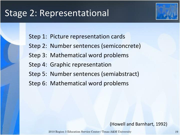 Stage 2: Representational