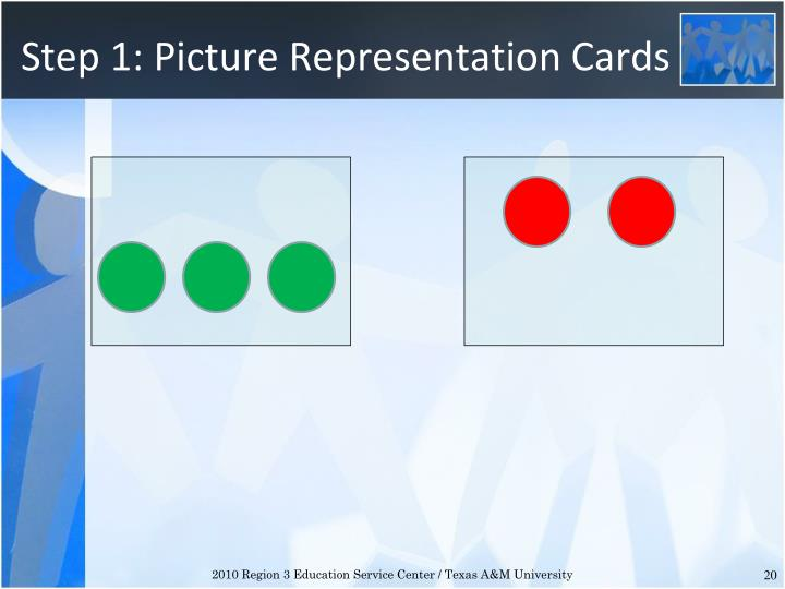 Step 1: Picture Representation Cards
