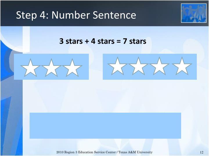Step 4: Number Sentence