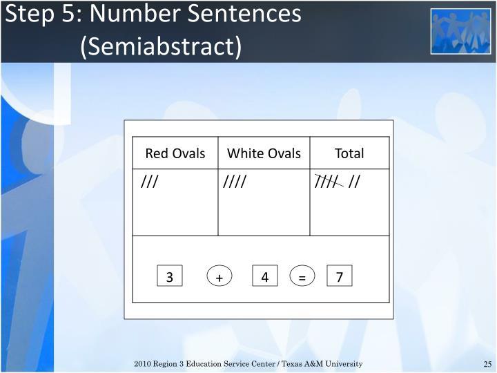 Step 5: Number Sentences