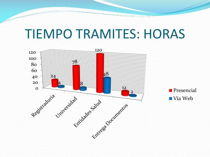 TIEMPO TRAMITES: HORAS