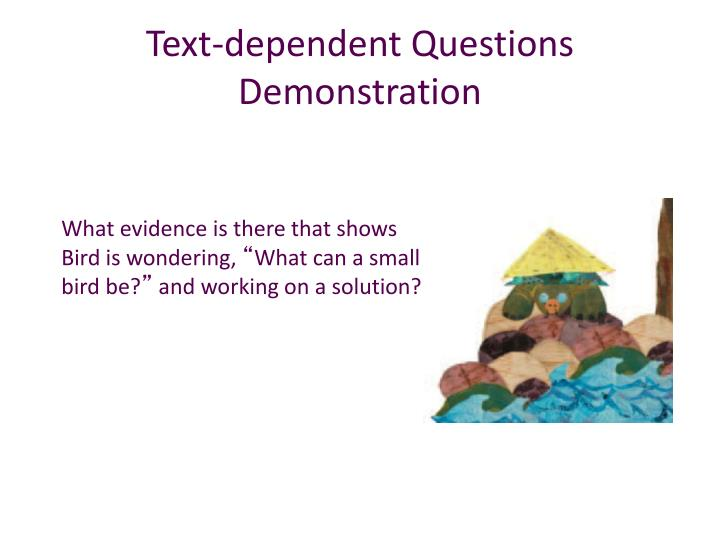 Text-dependent Questions Demonstration