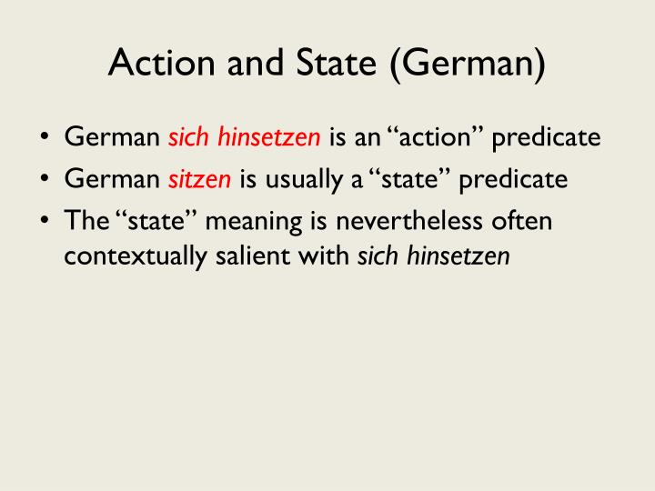Action and State (German)