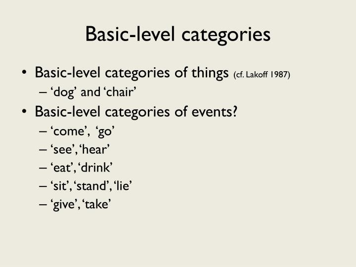 Basic-level categories