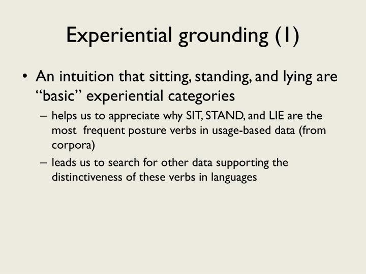 Experiential grounding (1)
