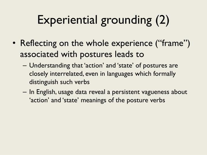 Experiential grounding (2)