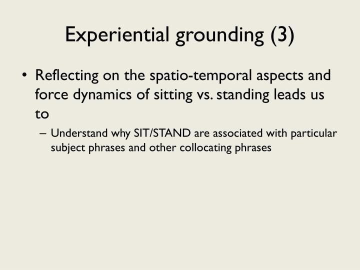 Experiential grounding (3)