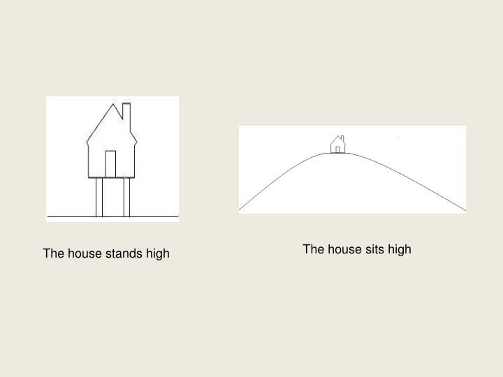 The house sits high