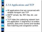 4 3 8 applications and tcp