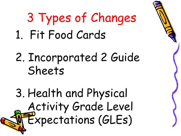 3 types of changes