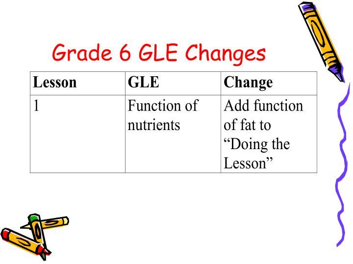 Grade 6 GLE Changes