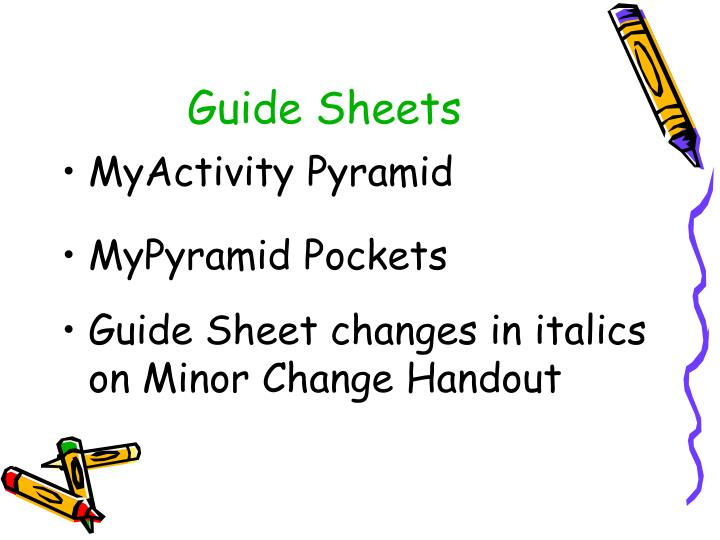Guide Sheets