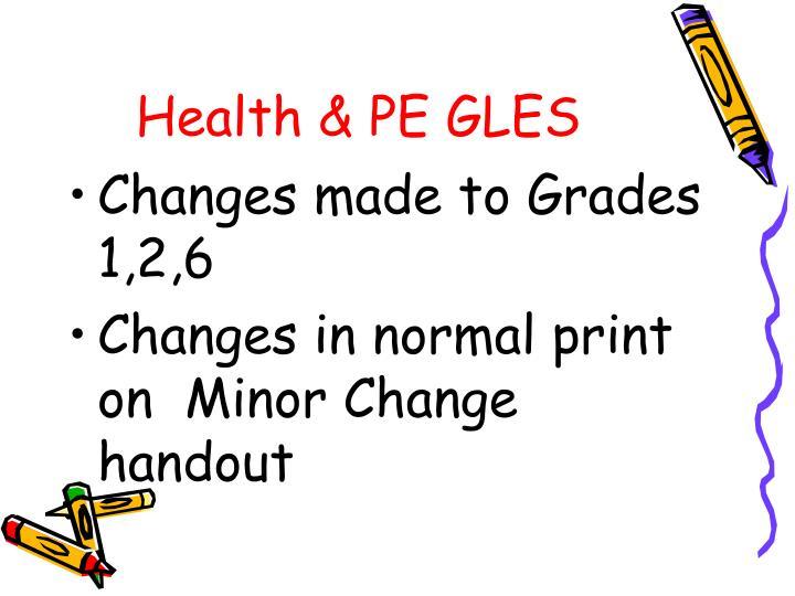 Health & PE GLES