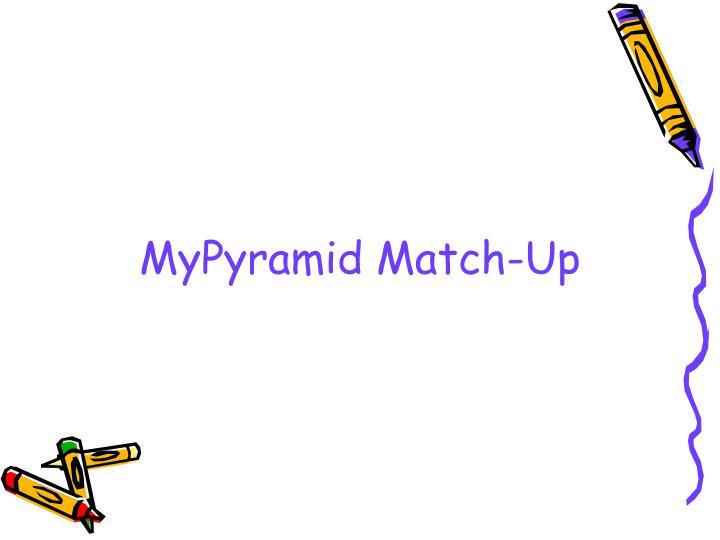 MyPyramid Match-Up