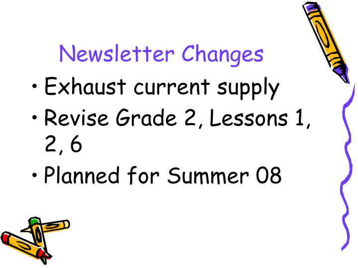 Newsletter Changes