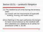 section 83 51 landlord s obligation
