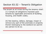 section 83 52 tenant s obligation