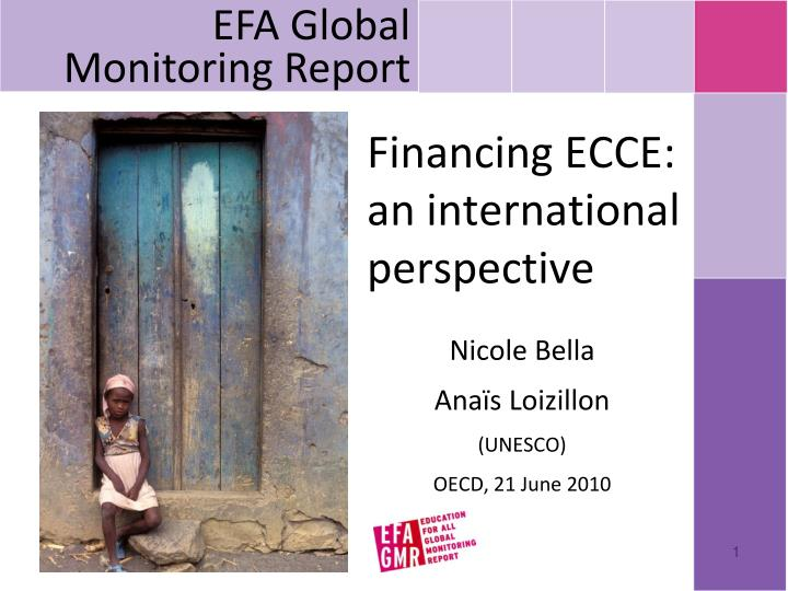 financing ecce an international perspective