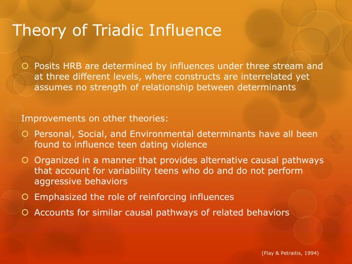 Theory of Triadic Influence
