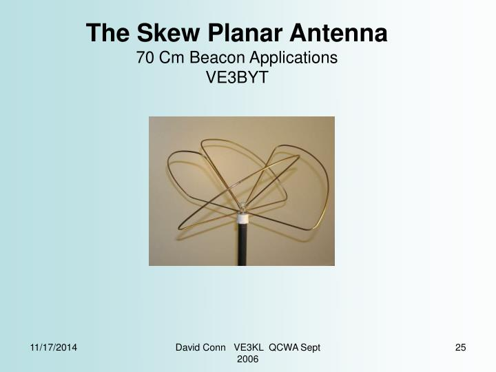The Skew Planar Antenna