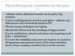 physiotherapeutic treatments for sij pain