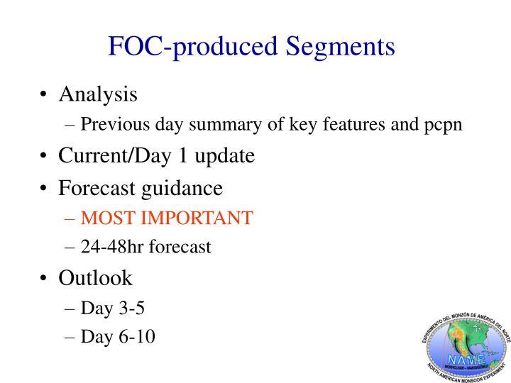 FOC-produced Segments
