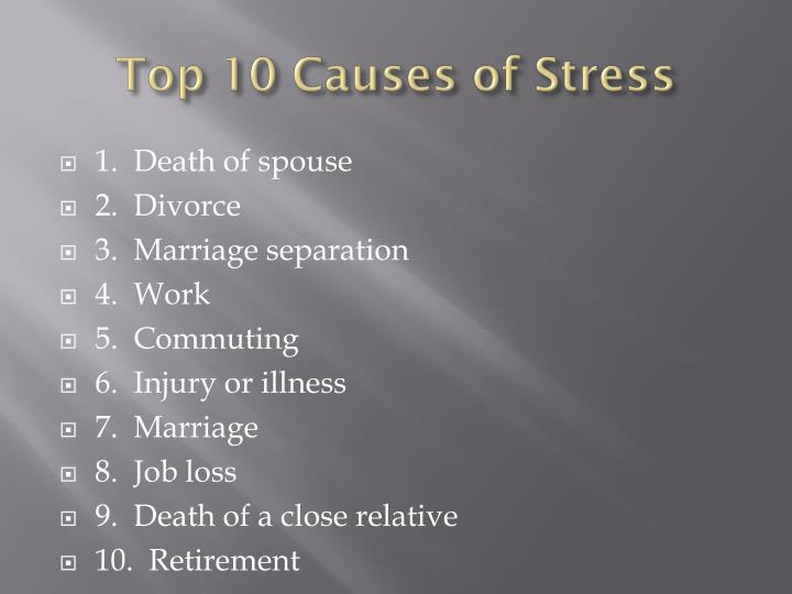 Top 10 Causes of Stress