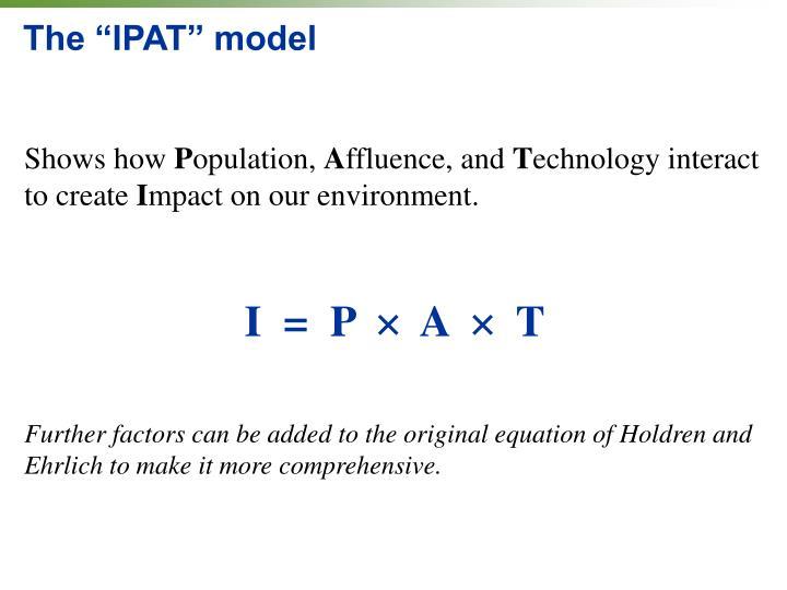"The ""IPAT"" model"