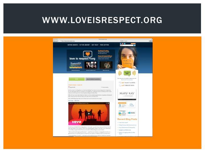 www.loveisrespect.org