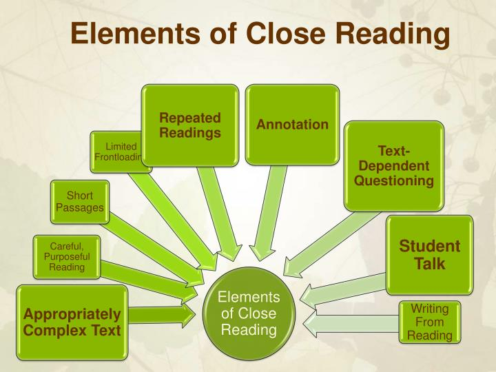 Elements of Close Reading