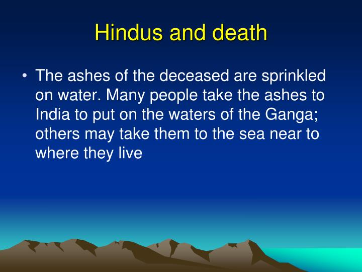 Hindus and death