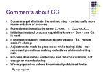 comments about cc