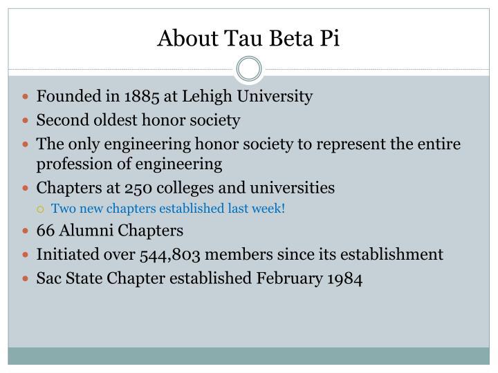 About tau beta pi