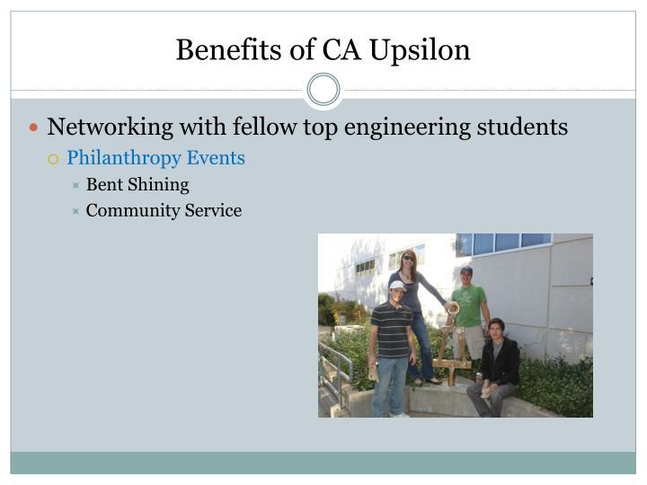 Benefits of CA Upsilon