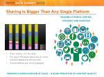sharing is bigger than any single platform