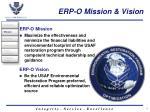 erp o mission vision