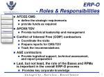 erp o roles responsibilities